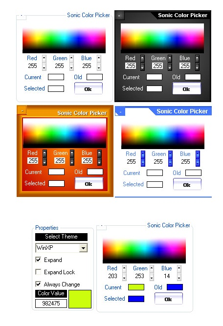 Sonic Color Picker Styles