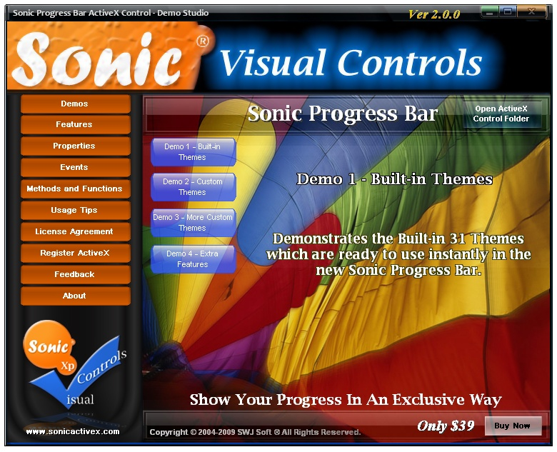 Sonic Progress Bar - Demo Studio