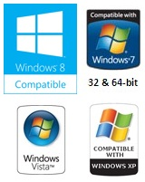 Windows 8,7,Vista and XP Compatible