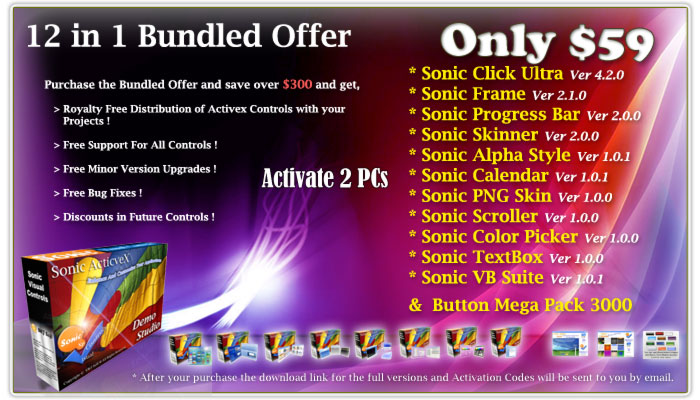 12 in 1 Sonic ActiveX Controls Suite