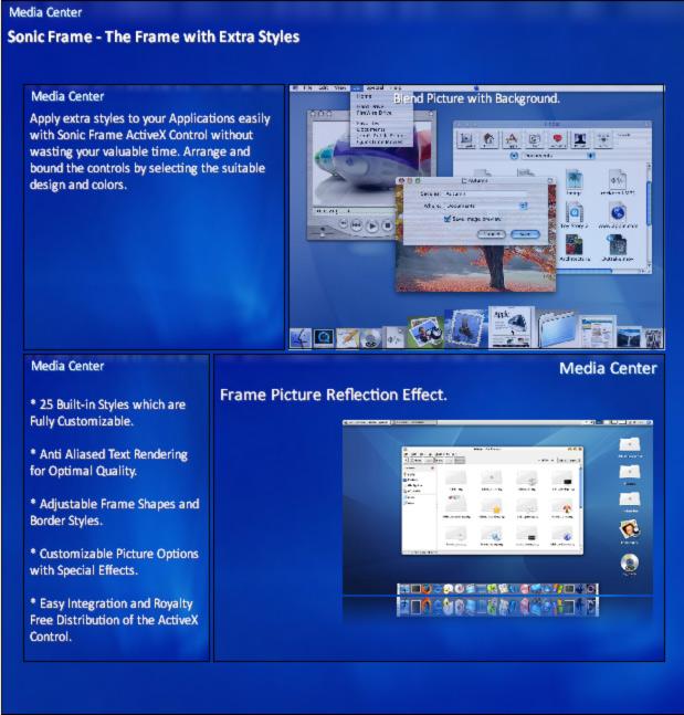 Sonic Frame ActiveX Control